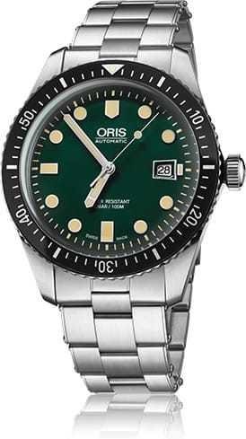 Oris Divers Sixty Five Green Dial Bracelet