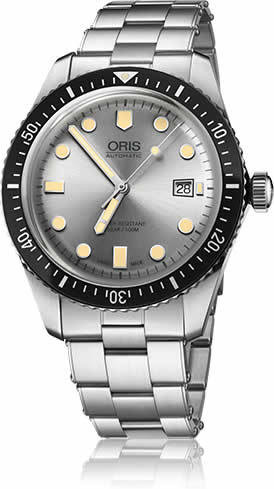 Oris Divers Sixty-Five Silver Dial on Bracelet
