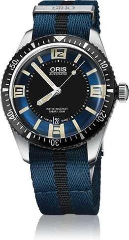 Oris Diver Sixty Five Blue Dial on NATO Strap