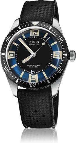 Oris Diver Sixty Five Blue Dial on Rubber Strap