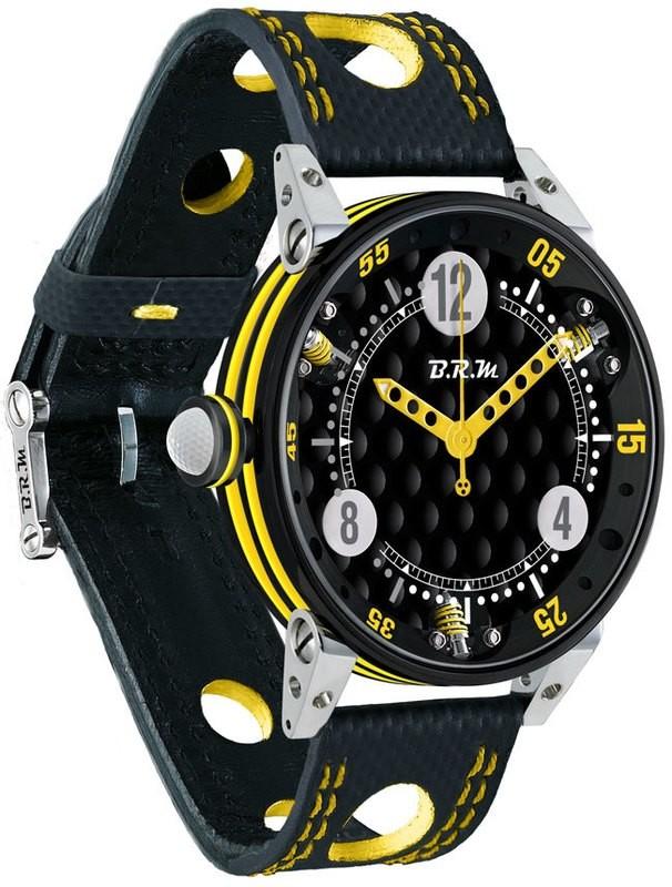 BRM 6-44 Golf Black Dial Yellow GF6-44-SA-N-AJ