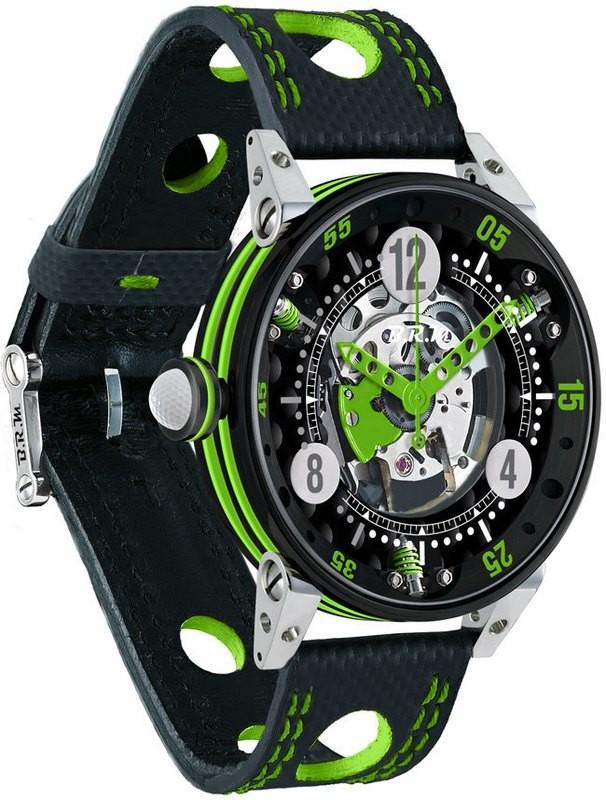 BRM 6-44 Golf Black Dial Green GF6-44-SA-N-SQ-AVP