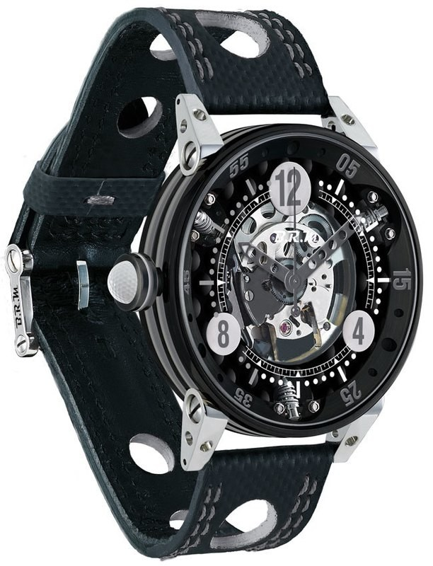 BRM Golf Black Skeleton Dial Silver GF6-44-SA-N-SQ-AG