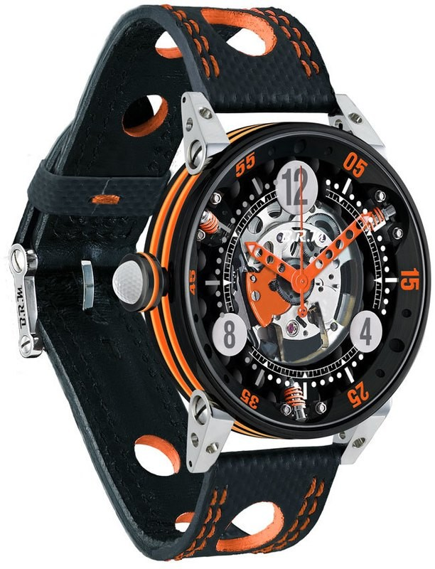BRM Golf Black Skeleton Dial Orange GF6-44-SA-N-SQ-AO