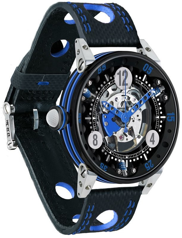 BRM Golf Black Skeleton Dial Blue GF6-44-SA-N-SQ-ABLF