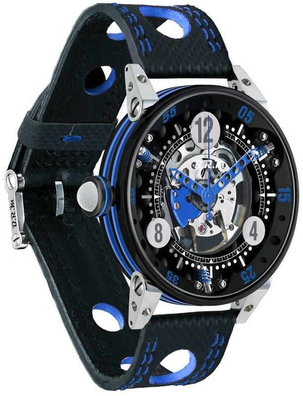 BRM Golf Black Skeleton Dial Light Blue GF6-44-SA-N-SQ-ABLC