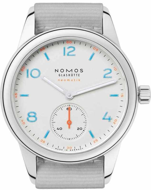NOMOS Glashütte Club Neomatik Galvanized White