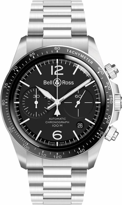 Bell & Ross BR V2-94 Black Steel on Bracelet