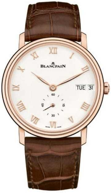 Blancpain Villeret Jour Date Red Gold