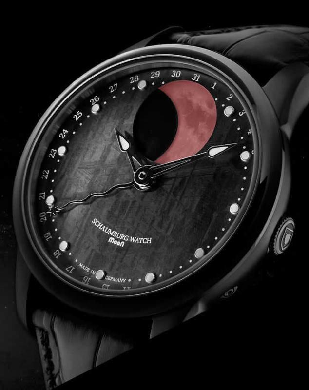 Schaumburg Watch Blood Moon Meteorite PVD