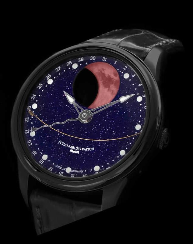 Schaumburg Watch Blood Moon Galaxy PVD