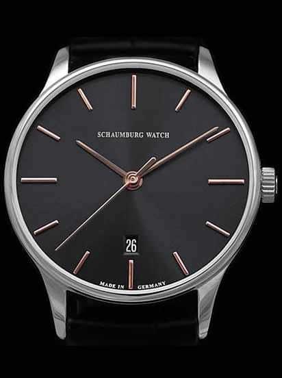 Schaumburg Watch Classoco Anthracite Dial 40mm