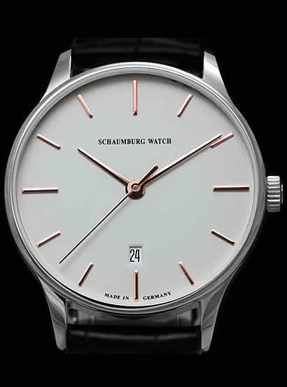 Schaumburg Watch Classoco White Dial 40mm