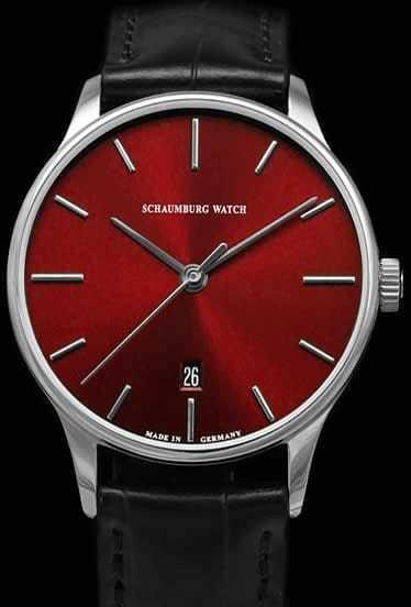 Schaumburg Watch Classoco 36mm Red Dial