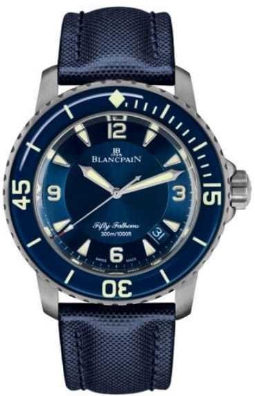 Blancpain Fifty Fathoms 5015 12B40 O52A Blue Dial