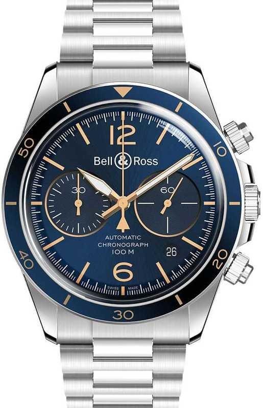 Bell & Ross BR V2-94 Blue Steel on Bracelet