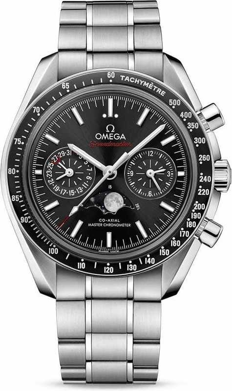 Omega Speedmaster Moonwatch Master Chronometer Moonphase Chronograph on Bracelet