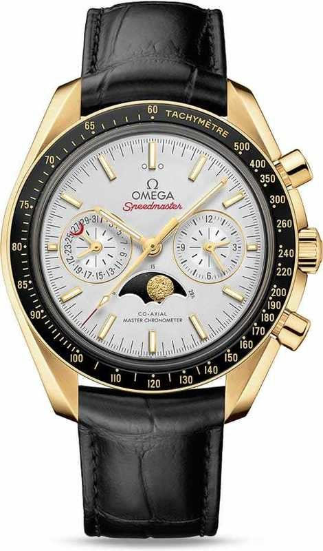 Omega Speedmaster Moonwatch Master Chronometer Moonphase Yellow Gold