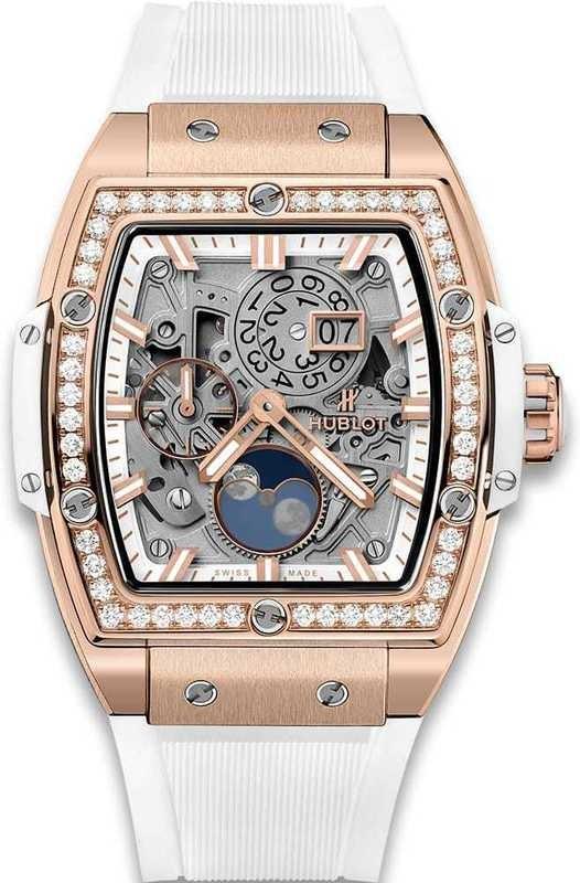 Hublot Spirit of Big Bang Moonphase King Gold White Diamonds 42mm