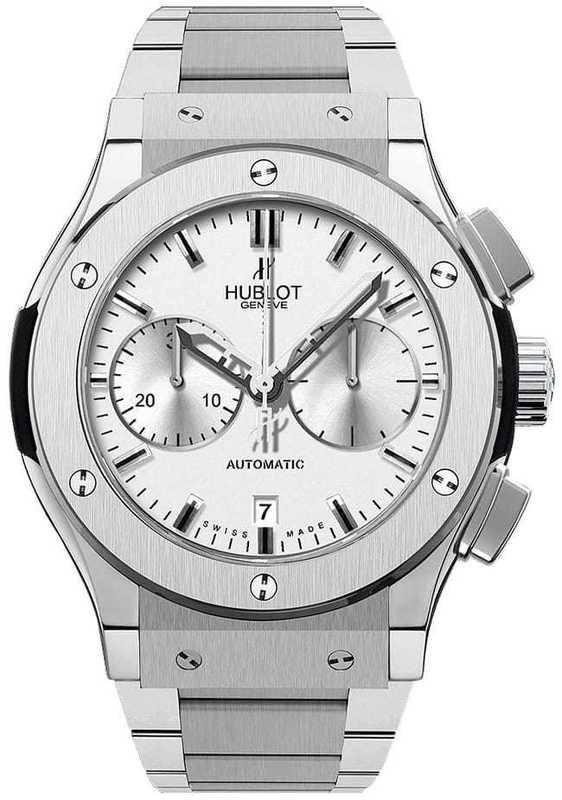 Hublot Classic Fusion Chronograph Opalin Titanium on Bracelet
