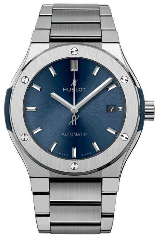 Hublot Classic Fusion Titanium Blue Bracelet 42mm