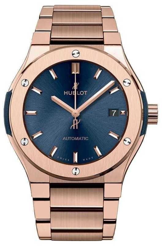 Hublot Classic Fusion King Gold Blue Bracelet 42mm