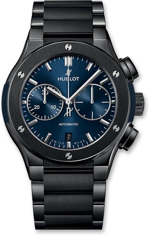 Hublot Classic Fusion Chronograph Ceramic Blue Bracelet 45mm