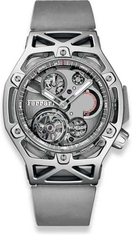 Hublot Techframe Ferrari Tourbillon Chronograph Sapphire White Gold