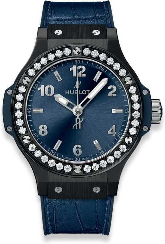 Hublot Big Bang Ceramic Blue Diamonds 38mm
