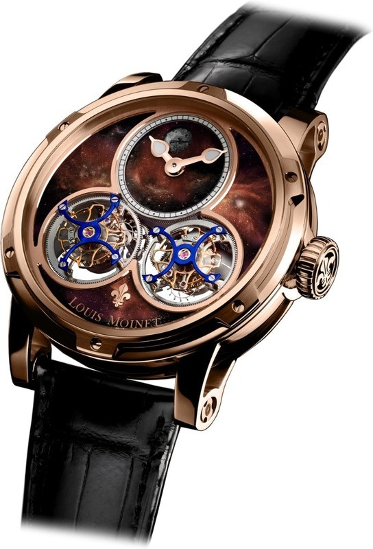 Louis Moinet Sideralis Red Gold Aventurine Dial