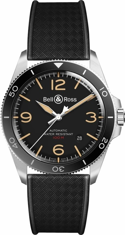 Bell & Ross BR V2-92 Steel Heritage on Strap