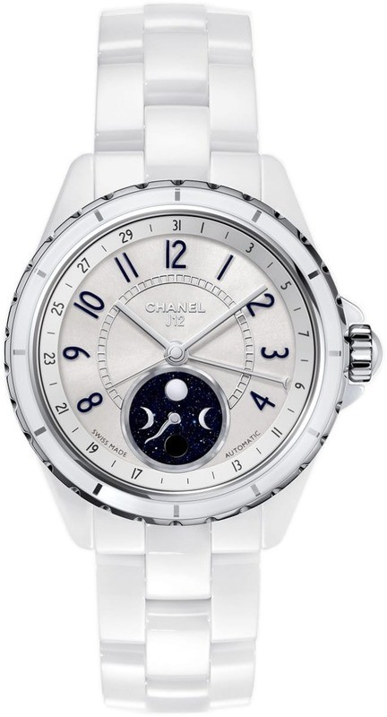 Chanel J12 Moophase White Ceramic and Steel