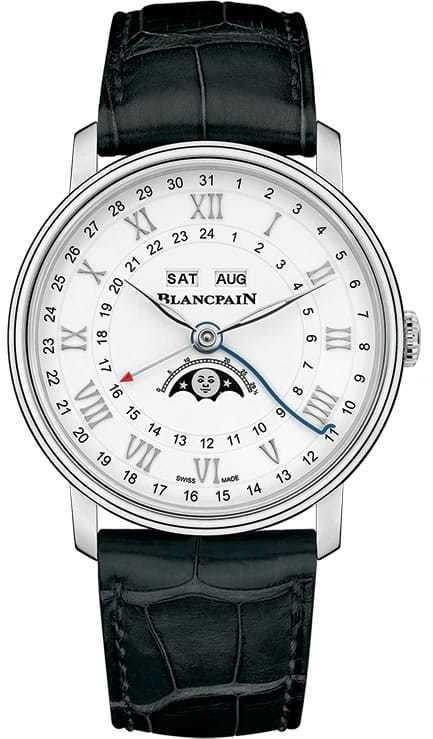 Blancpain Villeret Quantieme Complet GMT Steel on Strap 6676-1127-55B