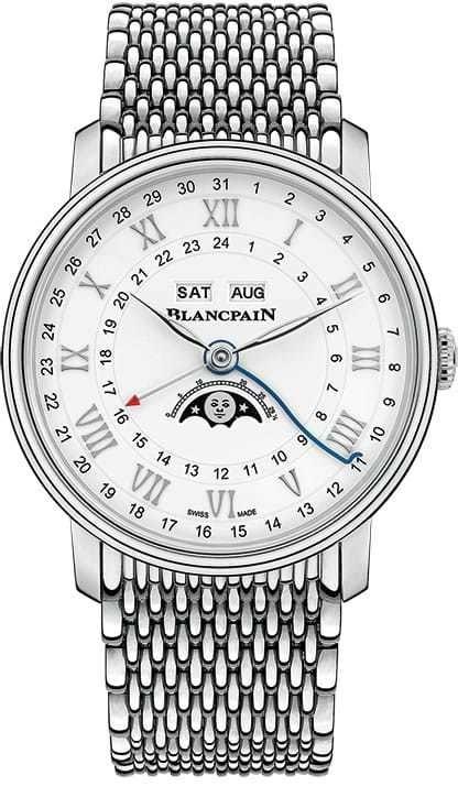 Blancpain Villeret Quantieme Complet GMT Steel on Bracelet 6676-1127-MMB