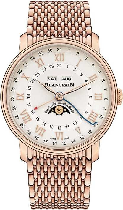 Blancpain Villeret Quantieme Complet GMT Red Gold on Bracelet 6676-3642-MMB