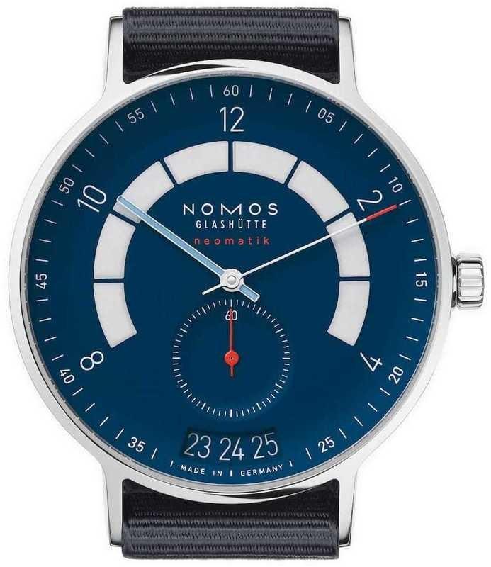 NOMOS Glashütte Autobahn Neomatik 41mm Date Midnight Blue