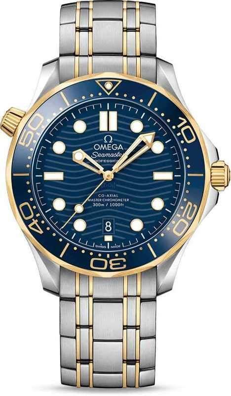 Omega Seamaster Diver 300M Co-Axial Master Chronometer Steel Yellow Gold