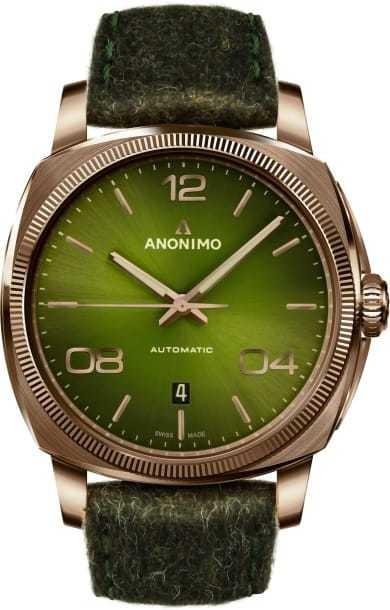 Anonimo Epurato Bronze Galvanic Green Sunray Dial