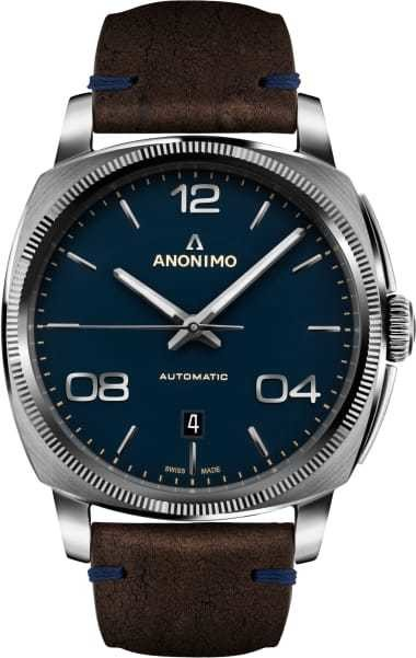 Anonimo Epurato Stainless Steel Blue Dial