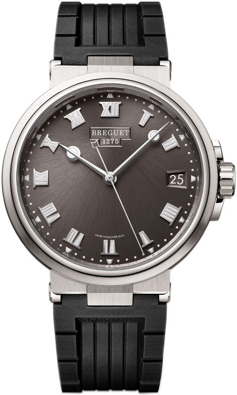 Breguet Marine 5517TI/G2/5ZU Grey Dial on Rubber Strap