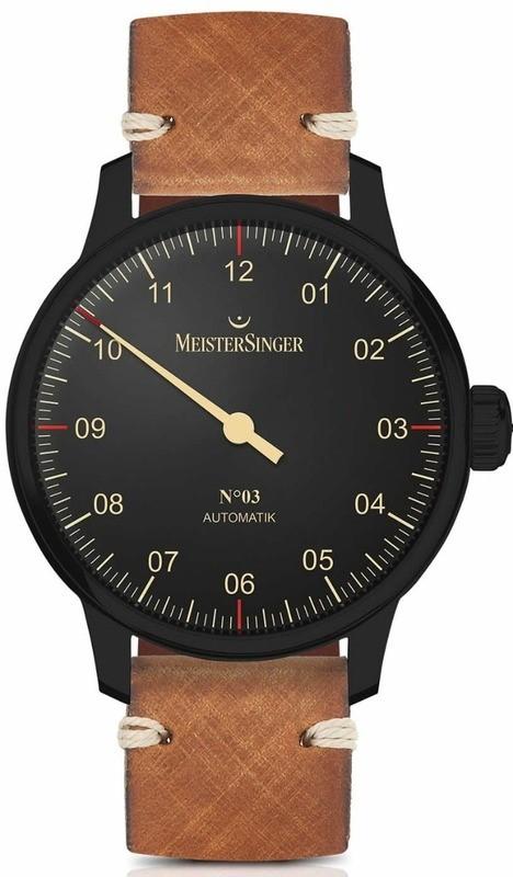 MeisterSinger No 3 Black Line AM902BL