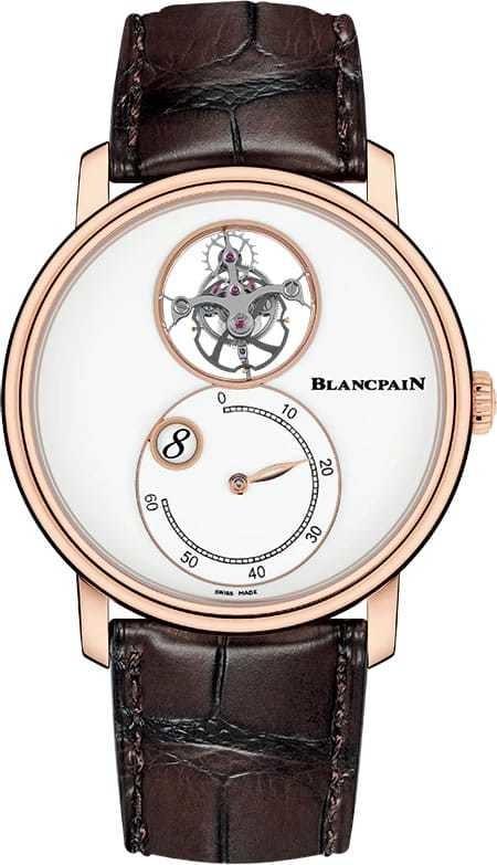 Blancpain Villeret Tourbilllon Volant Heure Sautante Minute Retrograde 66260-3633-55B