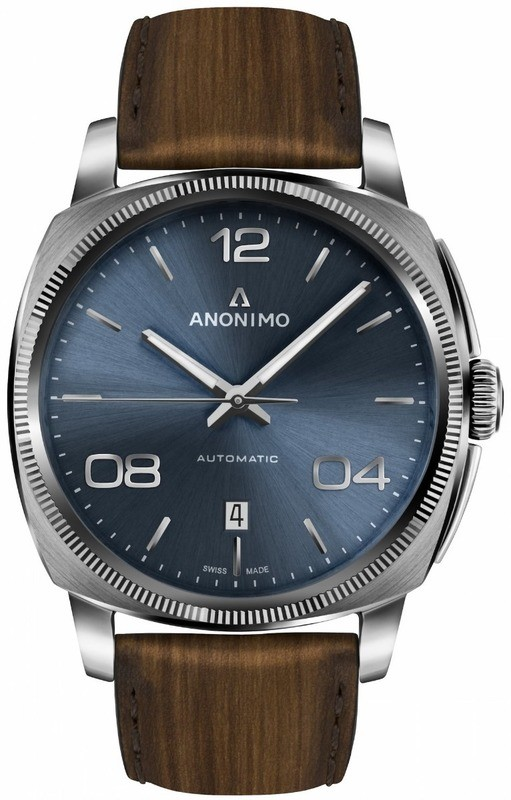 Anonimo Epurato Automatic Stainless Steel Case Galvanic Blue Sunray Dial