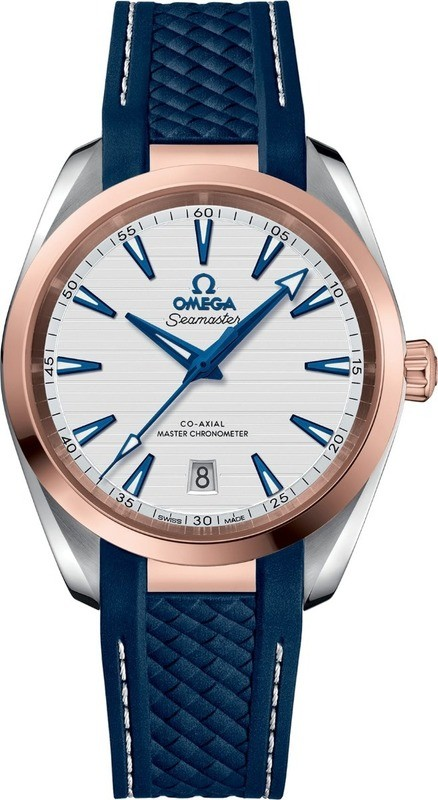 Omega Seamaster Aqua Terra 150M Co-Axial Master Chronometer 38mm White Dial Rose Gold