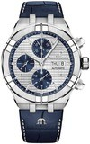 Maurice Lacroix Aikon Automatic Chronograph Silver Blue AI6038-SS001-131-1