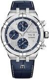 Maurice Lacroix Aikon Automatic Chronograph Silver Blue AI6038-SS001-131-1