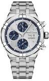 Maurice Lacroix Aikon Automatic Chronograph Silver Blue on Bracelet AI6038-SS002-131-1