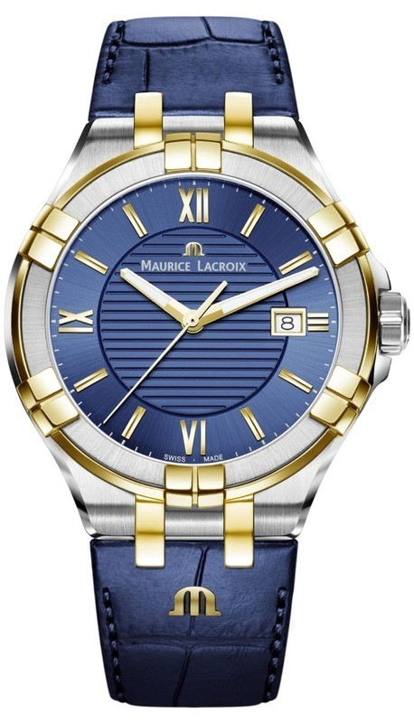 Maurice Lacroix Aikon Gents Blue Yellow Gold