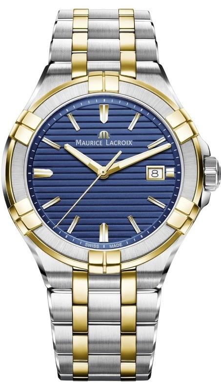 Maurice Lacroix Aikon Gents Blue Yellow Gold on Bracelet
