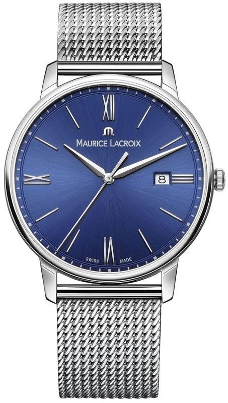 Maurice Lacroix Eliros Date Blue Dial on Bracelet EL1118-SS002-410-1